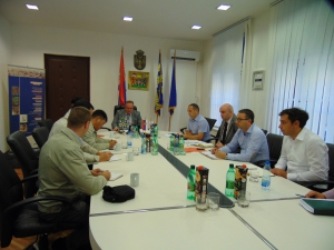 THE REPRESENTATIVES OF YURA CORPORATION AND THE CITY OF LESKOVAC HAD A DISCUSSION ABOUT THE NEW FACTORY