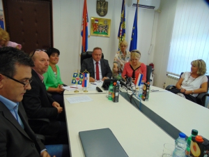 DELEGATION OF THE CITY LA ROCHE- SUR- YON VISITS LESKOVAC